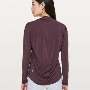 Lululemon Deep Stretch Long Sleeve Shirt Arctic Plum 4